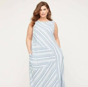 NWT & Discounted Shipping Catherines Seashore Stripe Linen Blend ALine Dress